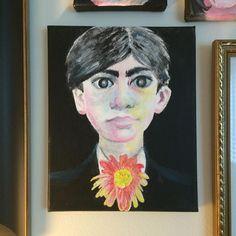 #painting #portrait #acrylics #boy #flower Leila, Portrait, Acrylics, My Arts, Painting, Instagram Posts, Artist, Flowers, Headshot Photography