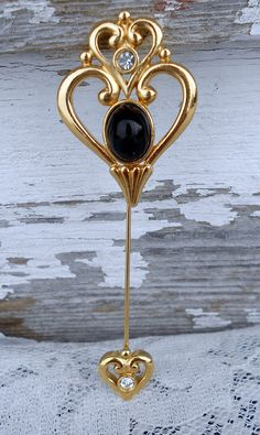 Vintage Heart Stick Pin