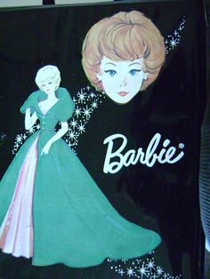 vintage 1963 MATTEL BARBIE case black ponytail vintage doll case barbie doll. $10.00, via Etsy.