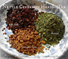 Nettle Cinnamon Herbal Tea Infusion (Iron + Vitamin C Tea)