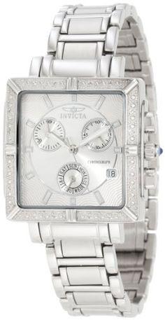 Invicta Women's 5377 Square Angel Diamond Stainless Steel Chronograph Watch #women #watches