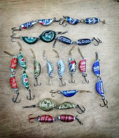 bottle cap fishing lure by RichardsWoodworking7 on Etsy