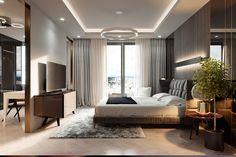 new villa concept on Behance Modern Luxury Bedroom, Modern Bedroom Design, Luxurious Bedrooms, Luxury Living, Luxury Interior, Interior Design, Bedroom Furniture Design, Bedroom Decor, Bedroom Wall