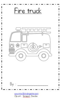 """Fire Truck"" Emergent Reader"