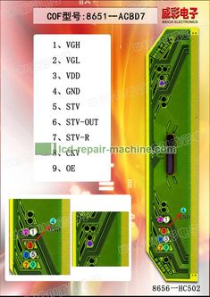 COF/TAB Flying Line, Flying Wire Figures for LCD LED TV screen repairing. Free Software Download Sites, Sony Led Tv, Electronic Circuit Projects, Tv Panel, Tv Display, Tv Services, Circuit Diagram, Data Sheets, Techno