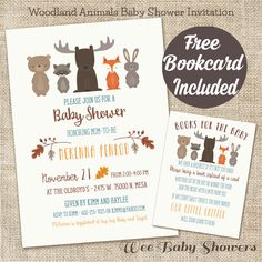 Hey, I found this really awesome Etsy listing at https://www.etsy.com/listing/254992478/woodland-animal-baby-shower-invitation