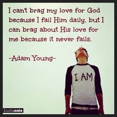 My favorite quote from my hero, Adam Young (Owl City) Owl City, Favorite Quotes, Best Quotes, Young Quotes, City Quotes, Gods Love, My Love, Adam Young, In Christ Alone