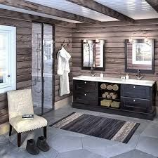 Bathroom in a Norwegian lodge Cabin Homes, Log Homes, Norway House, Cabin Bathrooms, Luxury Cabin, Cozy Cabin, Wooden House, House In The Woods, House Design