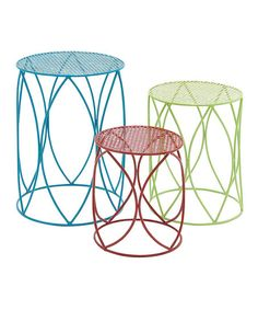 Plant Stand Set - Find inexpensive wrought iron tables and spray paint