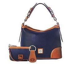 This is my Wish List - Dooney & Bourke Leather Hobo Bag with Wristlet and Key Fob