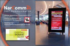Die #DigitalSignage Spezialisten von NarComm sind für den Digital Signage Best Practice Award nominiert. #outofhomemagazin Best Practice, Forgiveness, Communication