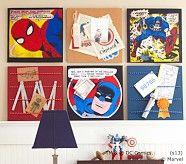 vintage superhero wall art | Pottery Barn Kids