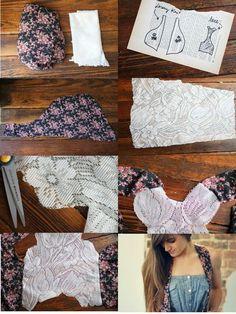 Cute lace & print vest!