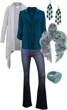 """""""grey turquoise"""" by sagramora on Polyvore"""