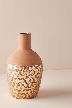Slide View: 1: Gilded Luna Vase