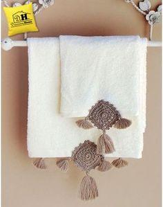 Coppia di asciugamani Geometrie Collection Colore Naturale