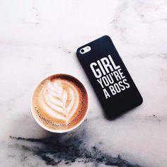 Fundas para móviles - Girl You are a Boss case cover iPhone Samsung HTC - hecho a mano por Solomiia-Ivanytsia en DaWanda #bolsos #clutch #bag #DaWanda #hechoamano #handmade #diseño