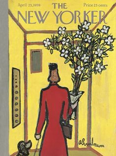The New Yorker Cover - April 1959 Poster Print by Abe Birnbaum at the Condé Nast Collection The New Yorker, New Yorker Covers, Capas New Yorker, Magazine Art, Magazine Covers, Poster Prints, Art Prints, Gig Poster, April 25