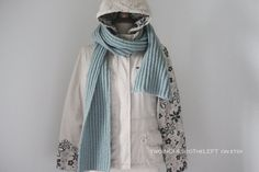 hand knitted men's scarf . chunky ribbed winter scarf . sea spray by twoINCHEStoTheLEFT.etsy.com