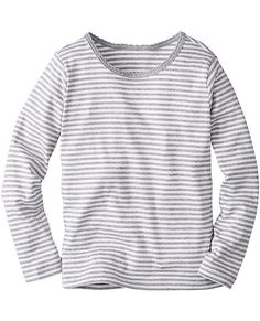 Awesome quality tees will stay on top of her stack (or get grabbed right from the dryer!). Peruvian pima is loved for its supersoft yarns and resilience through seasons of washes, while our comfy fit is just right for layering.  <br>• 100% combed Peruvian pima cotton ribbknit <br>• Yarn-dyed stripes <br>• Certified by Oeko-Tex® Standard 100 <br>• Prewashed <br>• Imported