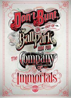 Typographic Illustrations - Say it...Write it...Draw it...