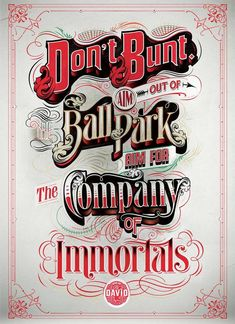#Typography, Illustration, Advertising
