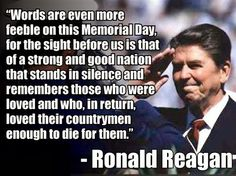 president reagan memorial day