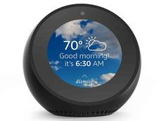 Amazon Echo Spot is a smart alarm clock with Alexa and a 2.5-inch display