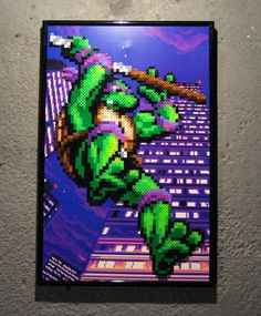 Perler TMNT (Donatello) by Dlugo1975.deviantart.com on @DeviantArt