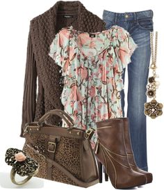 """Bohemian Flower Flounced Chiffon Shirt"" by aannggiiee ❤ liked on Polyvore"