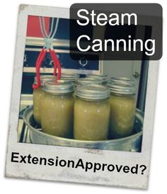 Steam Canning - State Extension Approved? Cool!