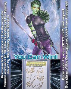 Less than 2 weeks away from GOTGvol2 and @krscomics has an exclusive Gamora cover to All New Guardians of the Galaxy issue1 by the amazing Natali Sanders!! IN ADDITIONALLY EVERYONE WHO PURCHASES THE SET OF TWO WILL BE AUTOMATICALLY ENTERED TO WIN A CAST SIGNED GUARDIANS OF THE GALAXY COMIC!!! These covers are extremely rare!!  - $10.99 COLOR COVER LIMITED TO 2500 COPIES  - $29.00 VIRGIN COVER LIMITED TO 800 COPIES  - Get the set for $34.99  Use discount code nomoremutants for 10% off your…