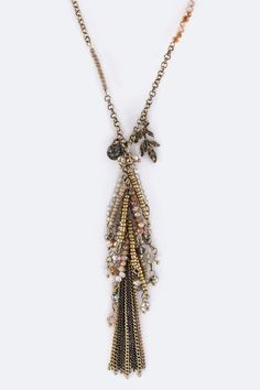 Mix Charms & Tassel Necklace