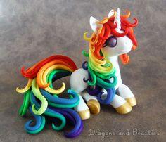 Rainbow Unicorn - Charity Auction by DragonsAndBeasties.deviantart.com on @DeviantArt