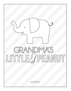 """Grandma's Little Peanut"" #FREE printable for Grandparents Day. Click to print!"