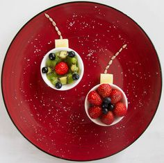 Fun food art Fruit Baubles
