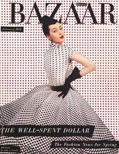 Harper's Bazaar cover, February 1952.
