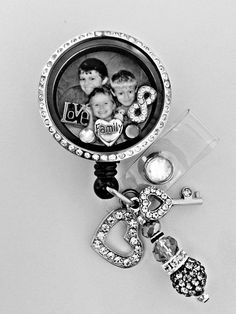 Deluxe LOVE FAMILY FOREVER Photo Retractable Badge by Badgetopia