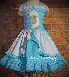 Girls+Boutique+Birthday+Dress+Frozen+Elsa+por+divagirlboutique,+$79.50