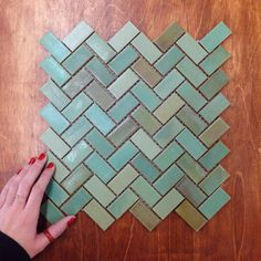 Herringbone Tile Patina