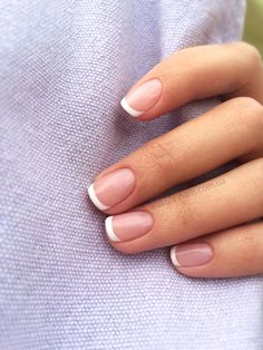 All girls like beautiful nails. The first thing we notice is nails. Therefore, we need to take good care of the reasons for nails. We always remember the person with the incredible nails. Instead, we don't care about the worst nails. French Tip Acrylic Nails, French Tip Nail Designs, French Manicure Nails, Manicure And Pedicure, Manicure Ideas, Natural French Manicure, Short Natural Nails, Natural Wedding Nails, Wedding Manicure
