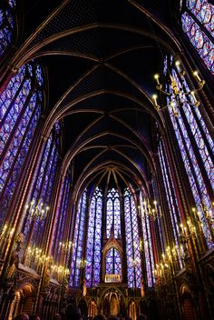 Stained Glass in Sainte Chapelle, Paris