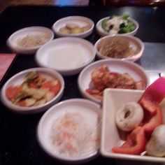 Banchan= side dishes