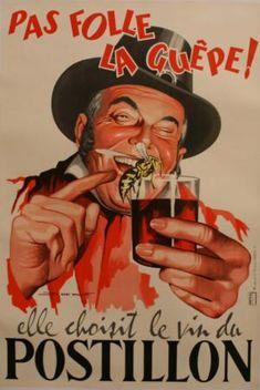 Affiche Postillon #vin #publicité