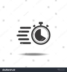 Timer icon templates vector with stopwatch,clock,fast flat sign symbols logo illustration isolated on white background black color.Concepts objects design for business. #Sponsored , #AFFILIATE, #fast#clock#flat#symbols