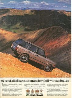 Twenty Range Rover Ads You'd Never See Today - Land Rover - ExPo: Adventure and Overland Travel Enthusiasts