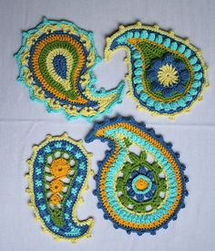 paisley crochet! I want to put these on decorative pillows and possibly a hand bag!