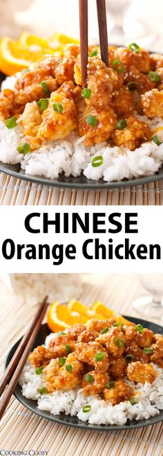 BEST EVER Orange Chicken - way better than P F Chang s and other Chinese take out places Packed with fresh orange flavor orangechicken chinese chicken recipe cookingclassy via cookingclassy Chinese Orange Chicken, Chinese Chicken Recipes, Easy Chinese Recipes, Asian Recipes, Healthy Recipes, Ethnic Recipes, Pf Chang Orange Chicken Recipe, Home Made Orange Chicken, Orange Chicken Recipes