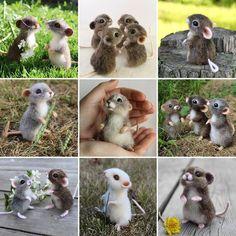 Как обещала- мышки 2017Очень урожайный год получился на грызунов, что доказывает нашу готовность понять, простить и полюбить этот вредный народец, пусть хоть в игрушечном варианте #итогигода #мышка #мыши #maus #felting #animals