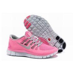 Nye Ankomst Nike Free 5.0+ Pink Grå Sølv Dame Sko Skobutik | Nyeste Nike Free 5.0+ Skobutik | Populær Nike Free Skobutik | denmarksko.com